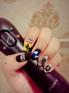 Racing Car Nail Art Wish I Was This Talented Nails In 2018