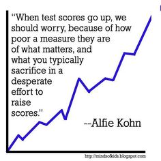 When test scores go up, we should worry. What's being sacrificed?