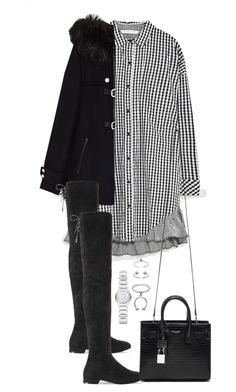 """""""Untitled #4502"""" by theeuropeancloset on Polyvore featuring Yves Saint Laurent, Maria Francesca Pepe and Burberry"""