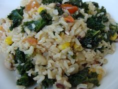 Brown Rice with Kale and Blackeye Peas Blackeye Peas, Main Dishes, Side Dishes, Chicken Piccata, Brown Rice, Post Workout, Veggie Recipes, Kale, Entrees