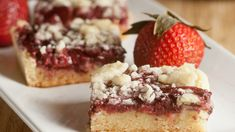 These sweet and fruity bars are a great summer girls night dessert.