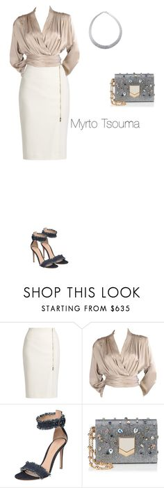 """""""New Year's Eve 2"""" by myrtots ❤ liked on Polyvore featuring MaxMara, Yves Saint Laurent, Gianvito Rossi and Jimmy Choo"""