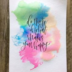 Add a watercolor background to your lettering using @tombowusa's Dual Brush Pens