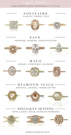 Engagement Ring Types, Antique Engagement Rings, Tiffany Engagement, Diamond Engagement Rings, Wedding Ring Guide, Wedding Rings, Jugend Mode Outfits, Diamond Wedding Bands, Ring Designs
