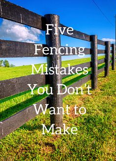 There are many different types of fences, know what is best for your homestead. Here are five common homestead fencing mistakes you can easily avoid. Pasture Fencing, Ranch Fencing, Farm Fence, Diy Fence, Backyard Fences, Fence Gate, Diy Horse Fencing, Farm Landscaping, Goat Fence