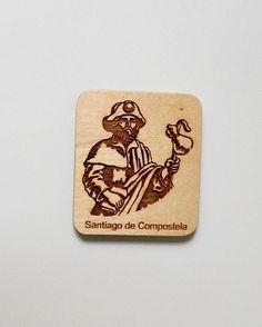 wooden santiago way Fridge magnet