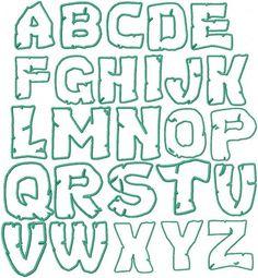 Teenage Mutant Ninja Turtles Font | Teenage Mutant Ninja Turtles Embroidery Font by HerringtonDesign, $1 ...