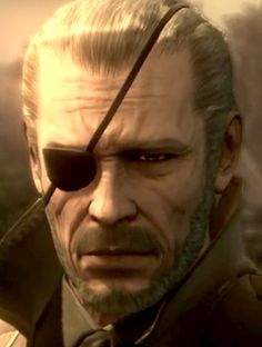 Big Boss circa 2014: Having had his body preserved by nanomachines at the behest of Zero, Big Boss was revived after the events of MGS4. His last act was to acquit his son and nemesis Solid Snake of his soldiers duty, and remind him that his life is his to live, no longer in thrall to politicians or governments. He died by exposure to the retrovirus FOXDIE, and collapsed in front of the grave of his mentor The Boss.