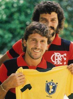 "#Sócrates and #Zico: #Flamengo and #Brazil "" - Dois monstros,vale compartilhar."