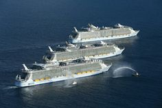 Royal Caribbean's Newest Ship Harmony of the Seas Welcomed by Sister Ships, Oasis of the Seas and Allure of the Seas. Photo from RCI Press Center.