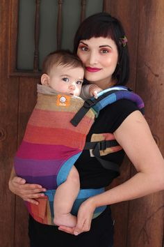 f1425ddcc4a (Standard Size) Full Wrap Conversion Tula Baby Carrier - Girasol Northern  Lights Baby Carrying