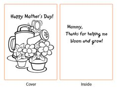 Free Printable Mothers Day Card To Color Free Printable Mothers