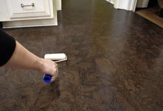 cork floor finishing touches