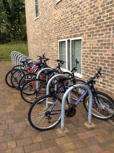 How many bikes are there at the bike rack?