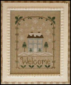 country cottage needleworks winter welcome | Broderie du 1 Janvier... - Page 2