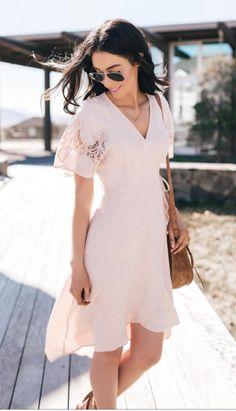 Crochet Sleeve Wrap Dress