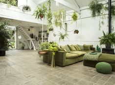 amazing Pantone 2017 interiors in Greenery color of the year 2017 green loft london, green loft, Gravity Home, House Styles, Decor, Interior Design, House Interior, Pantone Greenery, Home, Interior, 2017 Interiors