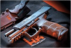 Heckler and Koch P30 9mm with ability to hold 16 shots.