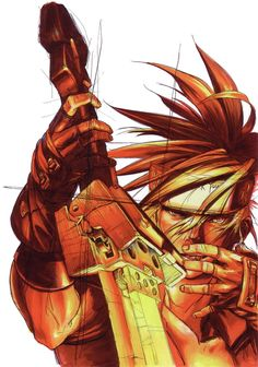 View an image titled 'Sol Badguy Illustration' in our Guilty Gear Isuka art gallery featuring official character designs, concept art, and promo pictures. Game Character, Character Design, Fantasy Heroes, Guilty Gear, Gear Art, Video Game Art, Video Games, Cartoon Games, Fighting Games