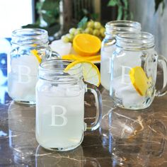 Stir up some sweet memories using this set of four old fashioned drinking jar set and bring the calm of a countryside afternoon to your home decor.