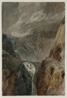 'The Devil's Bridge and Schöllenen Gorge', Joseph Mallord William Turner | Tate