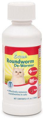 Excel Roundworm De Wormer Liquid For Cats 4 Oz Roundworm Wormer Cat Dewormer