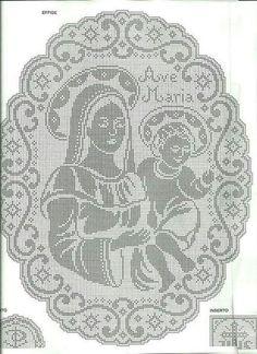 Diagrama da toalinha de croche.
