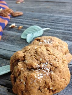 Almond Butter Cookies via Tiny Inklings #vegan #paleo #glutenfree I cut the sweetener in half and added shredded carrot and dried apricots. SUPER YUMMY