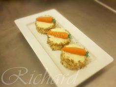 Mini pastel de zanahoria