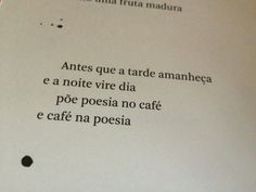 Café e poesia!