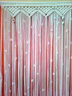 Macrame curtain, simple design