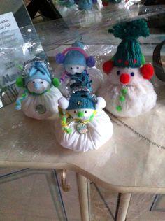 Bonhommes de neige tissus