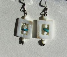 Mother of pearl dangles with a tiny hint of by cynpattyco on Etsy