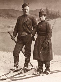 Skiers in Norway in 1890.