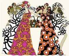 Vintage 60s Marimekko Fashion Illustration