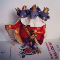 Коллекционные куклы ручной работы. Щелкунчик и мышиный король.Елочные Игрушки из ваты.. Brazevich dolls. Ярмарка Мастеров. Ватная игрушка