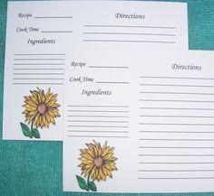 Recipe cards baby food recipe cards alphabet block recipe cards recipe cards baking recipe cards sunflower recipe cards cooking cards sunflower art forumfinder Choice Image