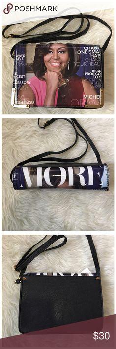 🛍 ONLY 1 LEFT 🛍 Michelle Obama Magazine Purse Michelle Obama Magazine Print Purse with an adjustable shoulder strap. Bags Shoulder Bags