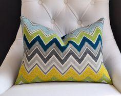 Adore these custom pillows made with Schumacher fabrics.  12x18 Schumacher  ZENYATTA MONDATA pillow cover in by woodyliana, $60.00