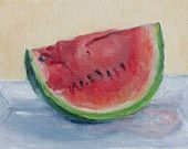 Image detail for -... watermelon 5x7 watercolor painting manguloveart 12 00 usd favorite