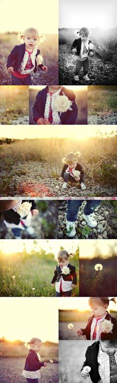 Kid Session Tip: Just let kids be kids, especially outdoors. Have them pick flowers, run around, play, ask them questions, make them laugh. The more candid the better! #Photography by rebecca2