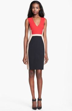 Rachel Roy Sleeveless Stretch Wool Dress available at #Nordstrom