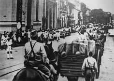 Invasion of French Indochina Part of the Second Sino-Japanese War and World War II  Japanese troops entering Saigon.1941