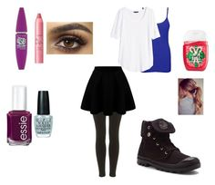 """""""School dance """" by hoodiesforlife on Polyvore featuring Topshop, Palladium, WearAll, Essie, OPI, tarte, Maybelline and H&M"""
