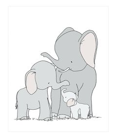 Sweet Melody Designs Elephants One Big Happy Family Print by Sweet Melody Designs #zulily #zulilyfinds