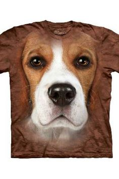 064822eafdb beagle face the mountain printed t shirts 3546 p Realistic Dog Face T Shirts  by The Mountain