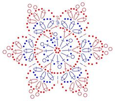 Transcendent Crochet a Solid Granny Square Ideas. Inconceivable Crochet a Solid Granny Square Ideas. Crochet Snowflake Pattern, Crochet Motifs, Christmas Crochet Patterns, Crochet Snowflakes, Crochet Diagram, Doily Patterns, Christmas Knitting, Thread Crochet, Crochet Doilies