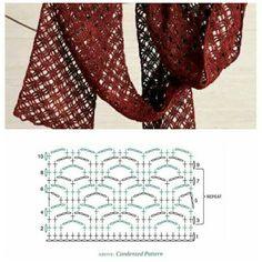 Sciarpa Crochet Shawl, Crochet Stitches, Cowls, Crochet Designs, Loom, Scarves, Blanket, Sewing, Knitting
