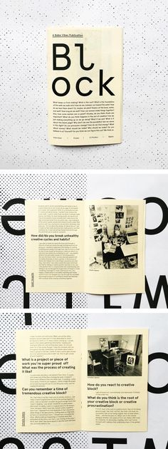 Block is by women — about work, creative block, and how we make. Essays, interviews, and pull out mantra posters for your workspace. $10. By Babe Vibes #babevibes