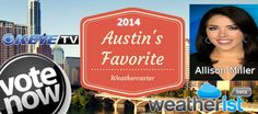Supporters and loyal viewers of @keyetv Austin vote for @Millerbars in the 2014 ‪#‎Austin‬'s Favorite ‪#‎Weathercaster‬ Survey Poll @ http://weatherist.com/blog/2014/07/22/vote-for-austins-favorite-weathercaster